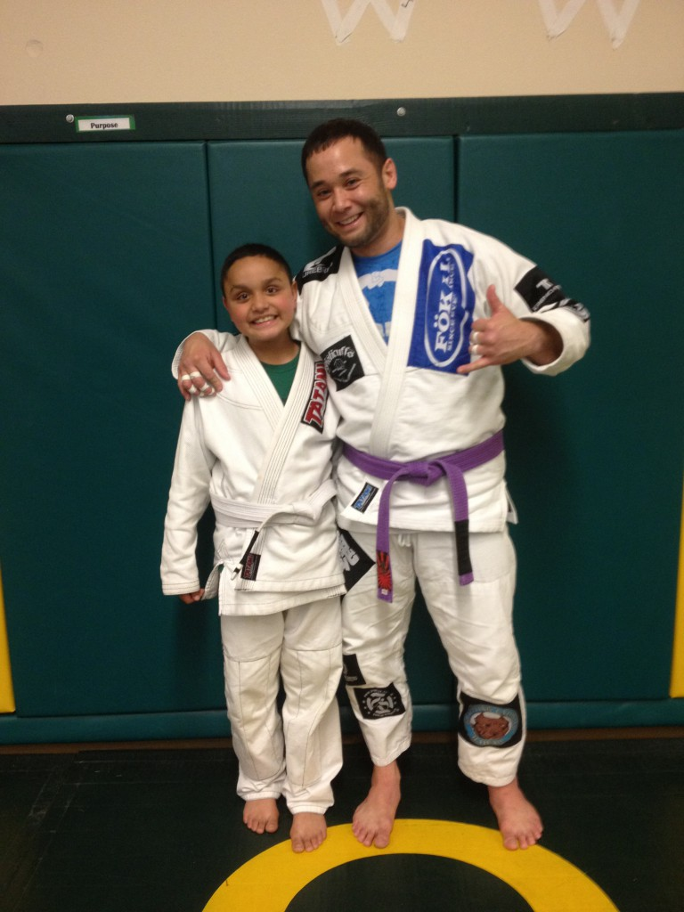 Yovanni getting his first stripe.