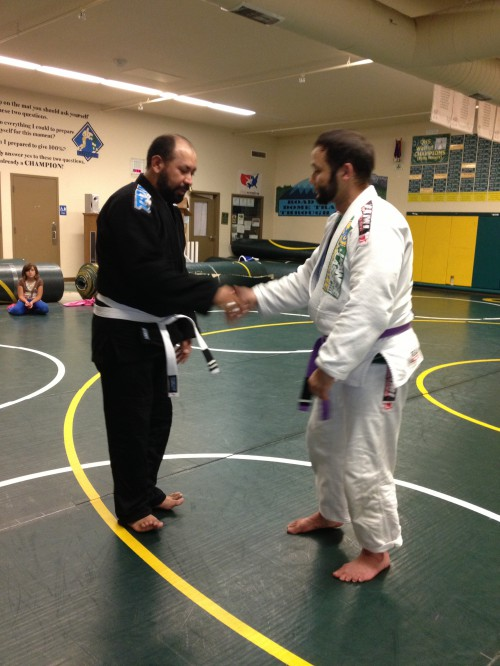 Congratulations to Lolo getting his 2nd stripe from Quincy Brazilian Jiu-Jitsu