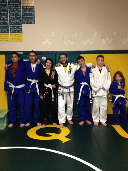 Congratulations to Daniel, Guadalupe, Briana, Brandon, Ethan H. and Brook on getting another stripe from Quincy Brazilian Jiu-Jitsu