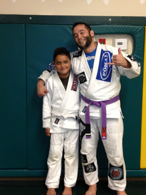 Jovanny getting his 3rd Stripe at Quincy Brazilian Jiu-Jitsu