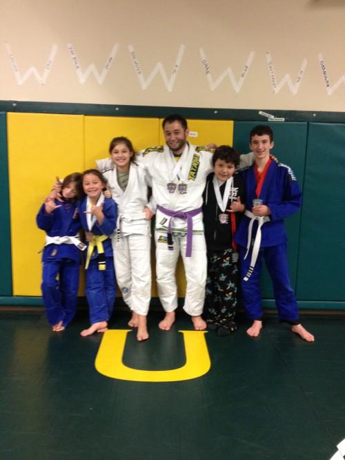 Congratulations to Quincy Brazilian Jiu-Jitsu's Brooke, Brandon, Briana, Naomi & Jaselyn on earning their stripes!