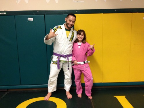 Tejah getting her 3rd stripe with Quincy Brazilian Jiu-Jitsu