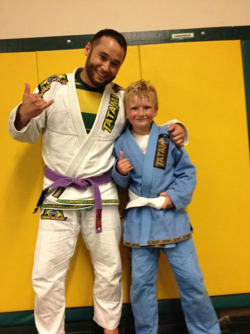 Congratulations to Tucker getting his first stripe from Quincy Brazilian Jiu-Jitsu