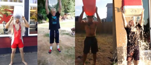 Coach Jimmy, Chris, Justin and Pipes do the ALS Ice Bucket Challenge