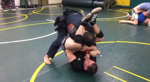 Brazilian Jiu-Jitsu in Police Gear