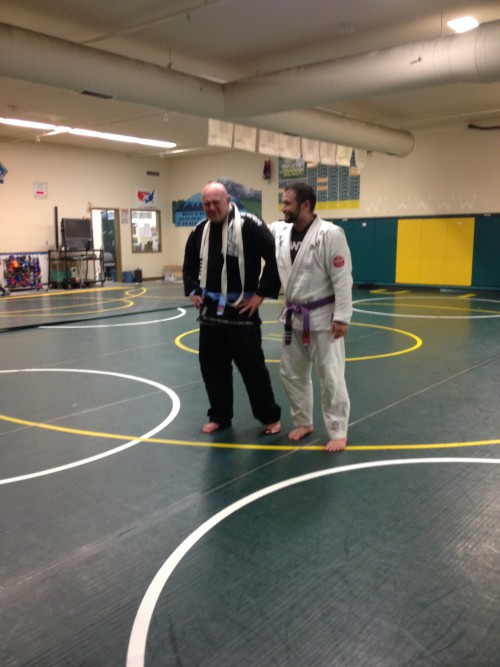 Joe being promoted to Blue Belt at Quincy Brazilian Jiu-Jitsu