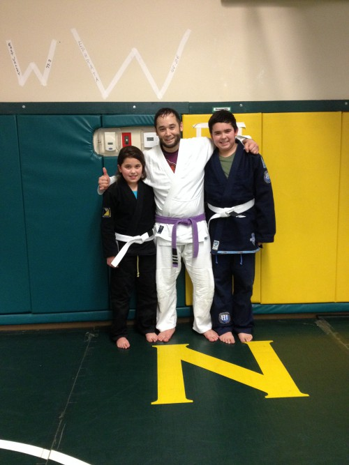 Congratulations to Alondra & Christian getting striped from Quincy Brazilian Jiu -Jitsu