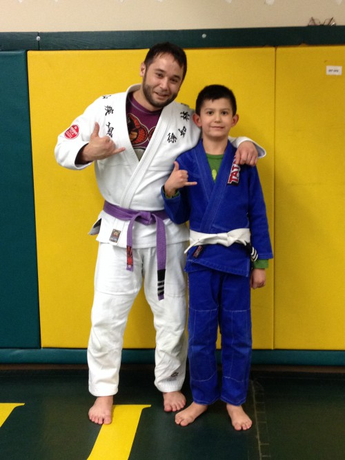 Congratulations to Dante getting striped from Quincy Brazilian Jiu -Jitsu