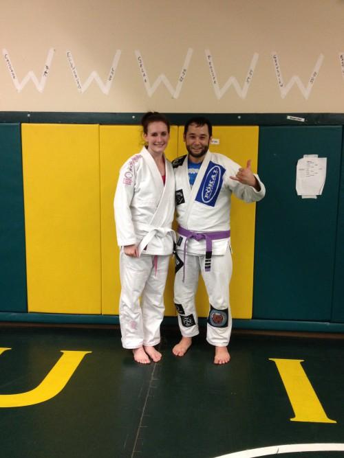 Congrats to Toni for earning her 1st stripe from Quincy Brazilian Jiu-Jitsu
