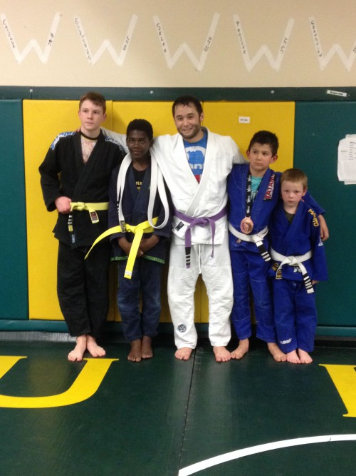 Congratulations to Mykenzi Earning his Yellow Belt and Boden and Ethan on Earning Another Stripe from Quincy Brazilian Jiu-Jitsu