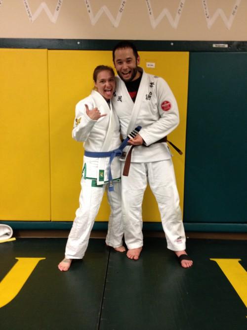 Congratulations to Christan on getting her 4th Stripe from Quincy Brazilian Jiu-Jitsu