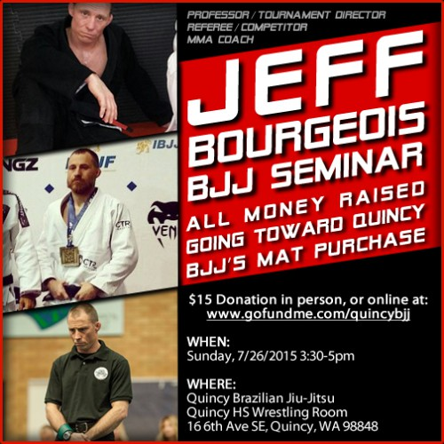 Jeff Bourgeois Seminar with Quincy BJJ