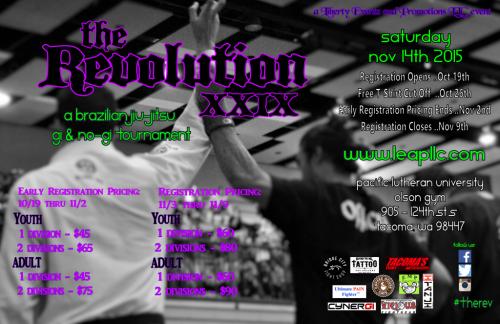 Revolution XXIX Poster - November 14, 2015