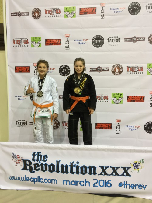Jaselyn Jones taking 2nd in Gi in the Revolution Tournament on March 5th, 2016