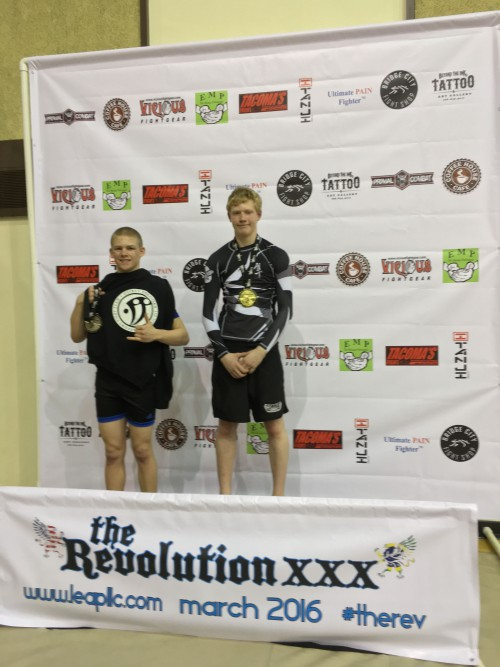 Hunter Harrington taking 2nd in No-Gi in the Revolution Tournament on March 5th, 2016