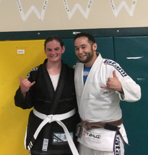 Congratulations to Jennifer on getting her 2nd stripe from Quincy Brazilian Jiu-Jitsu