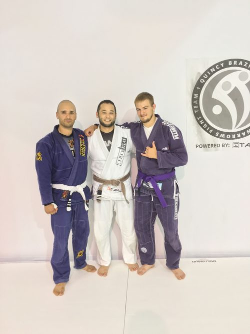 Congrats to Jayden (Purple-belt) and Juan (3rd stripe) on their promotions