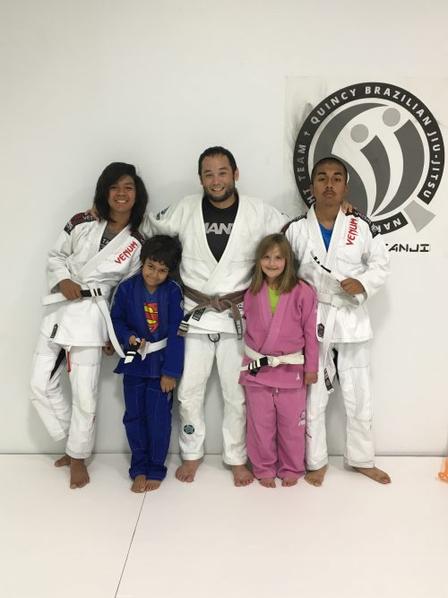 Congratulations to Francisco, Alex, Alexis and Junior on earning another stripe from Quincy Brazilian Jiu-Jitsu