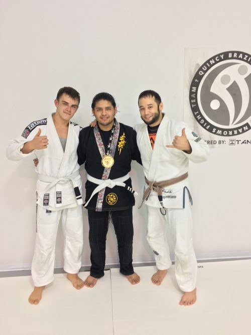 Congrats to Edward & Fernando on Earning Their Stripes from Quincy Brazilian Jiu-Jitsu