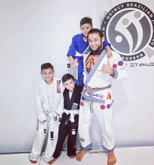 Congrats to Jorge, Freddie, Anthony & Jackson on their First Stripes from Quincy Brazilian Jiu-Jitsu