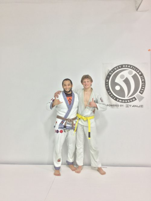 Congratulations to Hunter earning his Yellow Belt from Quincy Brazilian Jiu-Jitsu