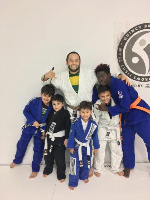 Congrats to the kids who got striped by Quincy Brazilian Jiu-Jitsu on 1/9/17