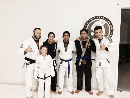 Congrats to Makayla, Luke, Joe, Fernando & Edward on getting promoted from Quincy Brazilian Jiu-Jitsu