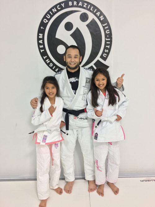 Congratulations to Ariselli and Jasmine on their first stripe from Quincy Brazilian Jiu-Jitsu