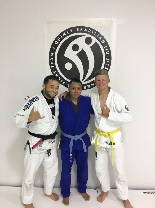 Congrats to Hunter and Gustavo earning another stripe from Quincy Brazilian Jiu-Jitsu!
