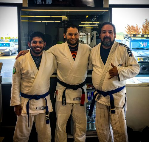 Congrats to Silvie and Joe on getting another stripe on their blue belts!