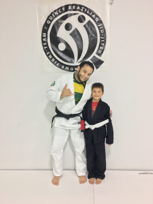 Congratulations to Julian getting his first stripes from Quincy Brazilian Jiu-Jitsu