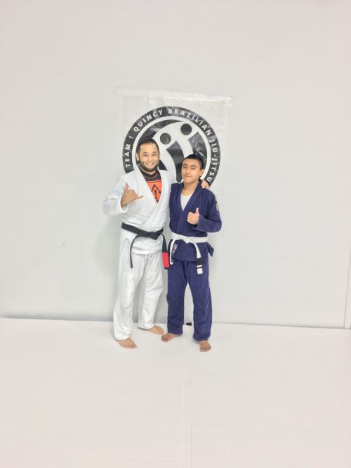 Congratulations to Damian on Earning His First Stripe from Quincy Brazilian Jiu-Jitsu
