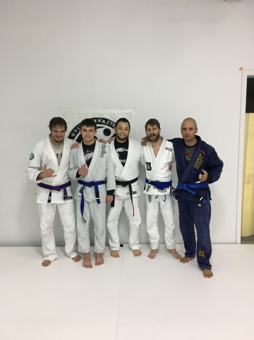 Congratulations to Jayden, Ethan, Devon and Juan Earning Aother Stripe from Quincy Brazilian Jiu-Jitsu