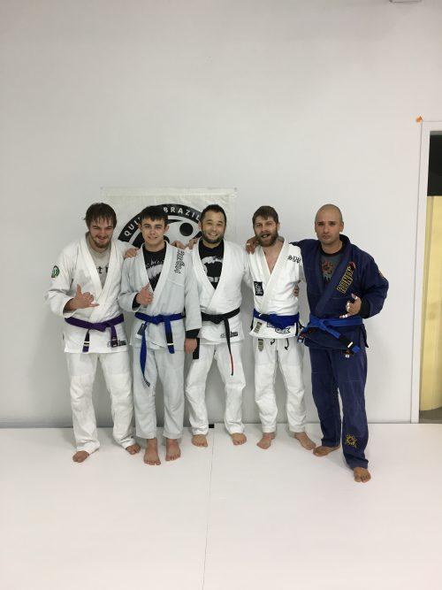 Congratulations to Jayden, Ethan, Devon and Juan Earning Aother Stripe from Quincy Brazilian Jiu-Jitsu