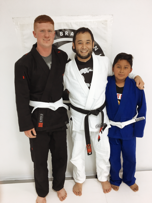 Congratulations to Andrew and Marcelo on Earning Their First Stripes from Quincy Brazilian Jiu-Jitsu