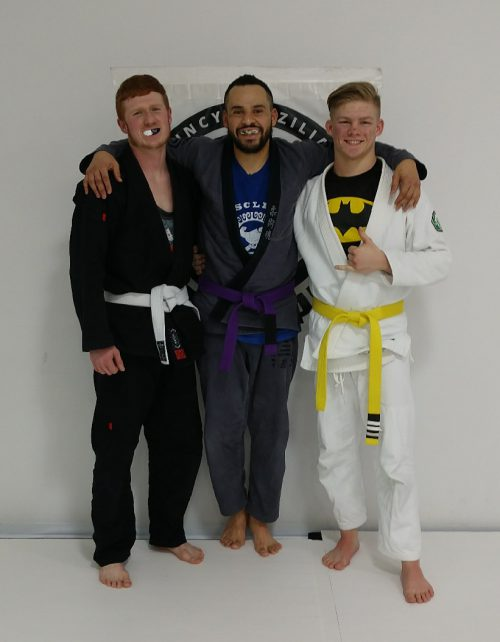Congrats to Hunter and Andrew Earning Another Stripe from Quincy Brazilian Jiu-Jitsu