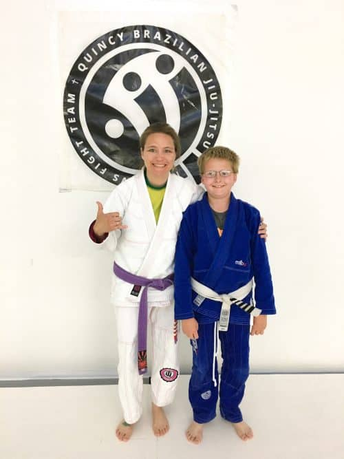Congratulations to Jackson on Earning His Last Stripe on His White Belt from Quincy Brazilian Jiu-Jitsu