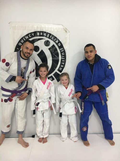 Congratulations to Ruby and Lyric earning their first stripes from Quincy Brazilian Jiu-Jitsu